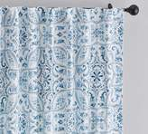 Pottery Barn Selby Tile Curtain, Set of 2 - Blue