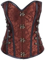 Tricandide Womens Royal Steel Boned Waist Cincher Corset with Chains 3XL