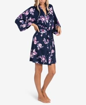 Linea Donatella Cailyn Floral Wrap Robe