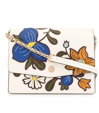 Tory Burch Robinson floral appliqués shoulder bag