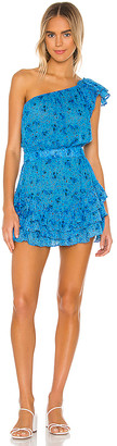 Poupette St Barth Kaia Ruffled Mini Dress