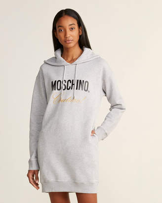Moschino Embroidered Logo Hoodie Dress
