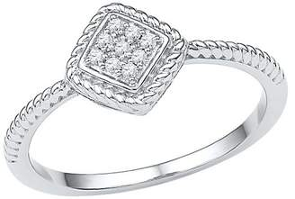 Diamond Accent CT.T.W Round Diamond Prong Set Fashion Ring in Sterling Silver (IJ-I2-I3) (Size 5.5)