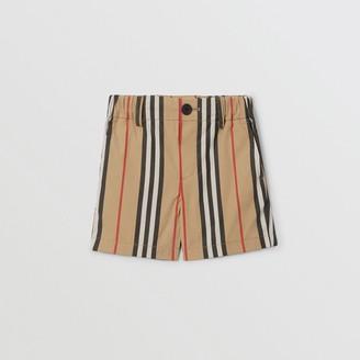 Burberry Childrens Icon Stripe Cotton Chino Shorts