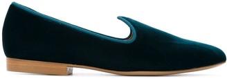 Le Monde Beryl Venetian velvet slippers