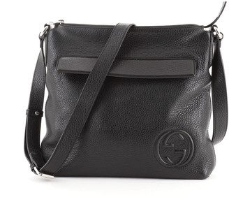 Gucci Soho Front Pocket Messenger Bag Leather Medium