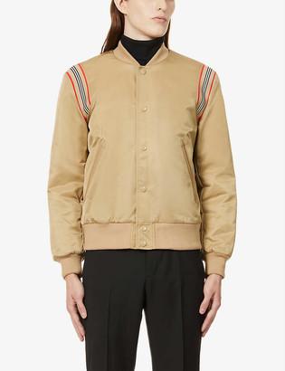 Burberry Check-print shell bomber jacket