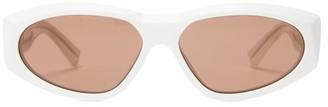 Givenchy Anima Oval Acetate Sunglasses - White