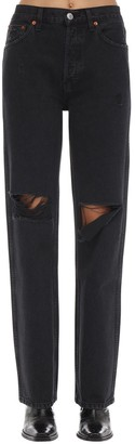 RE/DONE High Rise Loose Distressed Denim Jeans