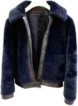 Martin Grant Navy Shearling Jacket for Women