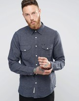 Lee Worker Dot Brushed Shirt Navy