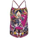 Gucci GUCCIGirls Pink Big Cats Swimsuit