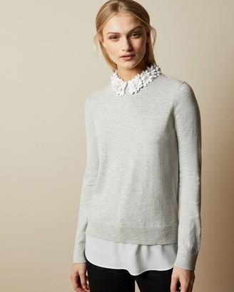 Ted Baker NANSEA Floral collar mockable sweater