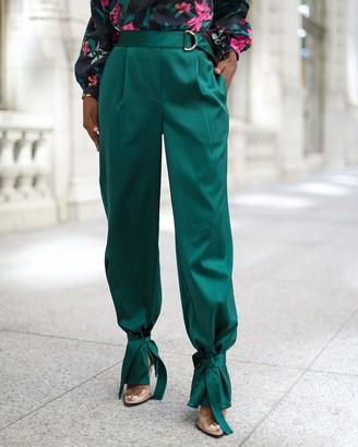The Drop Women's Dark Jade Ankle-Tie Pants by @signedblake S