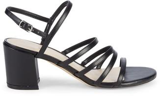 Nine West Unique 3-V Faux Leather Heeled Sandals