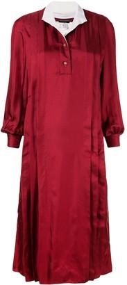 Chanel Pre Owned Long-Sleeve Midi Dress