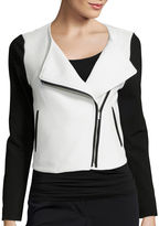 Liz Claiborne Quilted Knit Jacket - Tall
