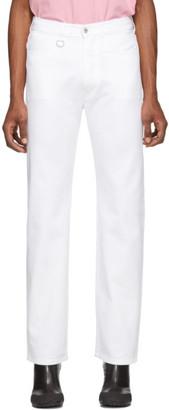 Random Identities White Slash Jeans