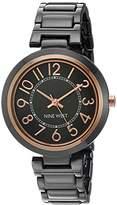 Nine West Women's NW/1893GNRT Easy To Read Dial Bracelet Watch