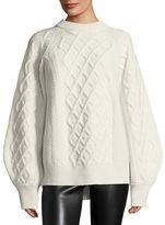 Victoria Beckham Aran Cable-Knit Crewneck Sweater