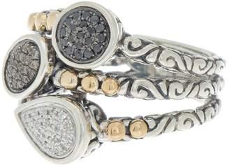 Effy 18K Gold & Sterling Silver Crystal Ring - Size 7