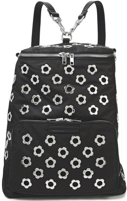 McQ Convertible Eyelet-embellished Shell Backpack