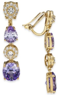 Eliot Danori Mixed Crystal Linear Clip-On Earrings, Created for Macy's