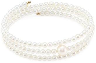 Mizuki Triple Row 3 - 3.5MM Pearl & 14K Gold Bracelet