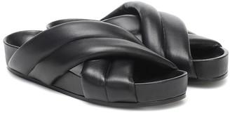 Jil Sander Quilted leather slides