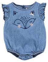 Fox & Finch Girls Prairie Fox Bodysuit (3-12M)