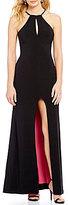 Sequin Hearts Keyhole High Neck Inner Beauty Long Dress
