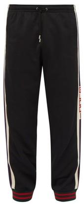 Gucci Logo-tape Track Pants - Mens - Black