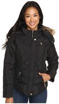 U.S. Polo Assn. Fur Hooded Puffer Jacket