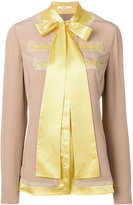 Givenchy bow tie top - women - Silk/Polyamide/Polyester/Viscose - 36