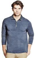 GUESS Men's Telford Washed Polo