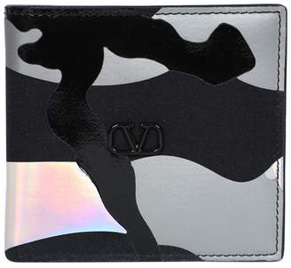 Valentino Garavani reflective camo billfold wallet