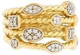 David Yurman Four-Row Diamond Confetti Ring