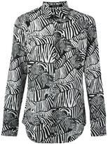 Roberto Cavalli zebra print shirt - men - Silk/Cotton - 40