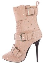Giuseppe Zanotti Suede Crystal-Embellished Boots w/ Tags