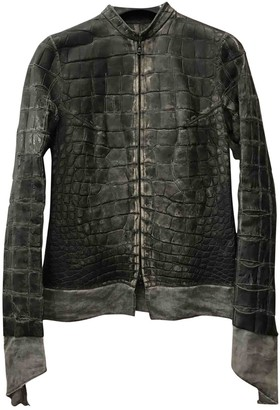 Isaac Sellam Anthracite Alligator Jacket for Women