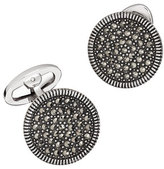 Jan Leslie Round Marcasite Cuff Links, Gray