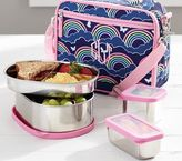 Pottery Barn Kids Navy Stainless Steel Cold Pack Lunch Bag Food Storage Set