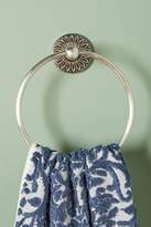 Anthropologie Floral Imprint Towel Ring