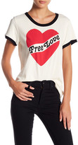 Sundry Free Love Front Graphic Print Tee