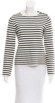 Maje Striped Knit Sweater