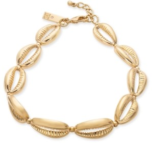 INC International Concepts Inc Gold-Tone Shell Ankle Bracelet, Created for Macy's
