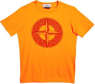 Stone Island Boy's Compass Screen-Print Logo T-Shirt, Size 14
