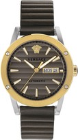 Versace Theros Automatic Leather Strap Watch, 42mm