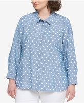 Tommy Hilfiger Plus Size Cotton Denim Shirt