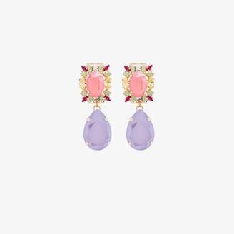 Anton Heunis Gold-Plated Pear Drop Crystal Earrings